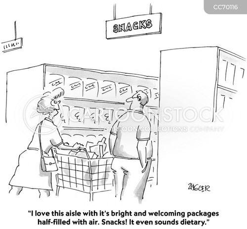 snacking cartoon