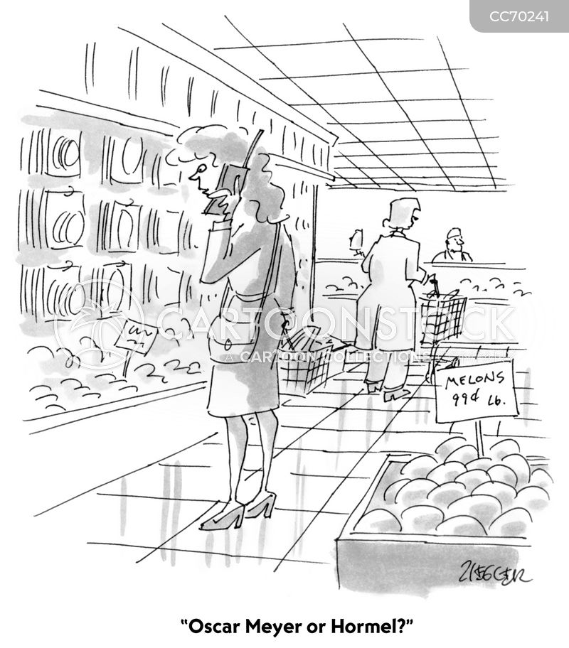 grocery store cartoon