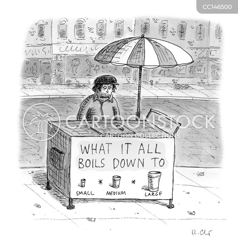 food stand cartoon