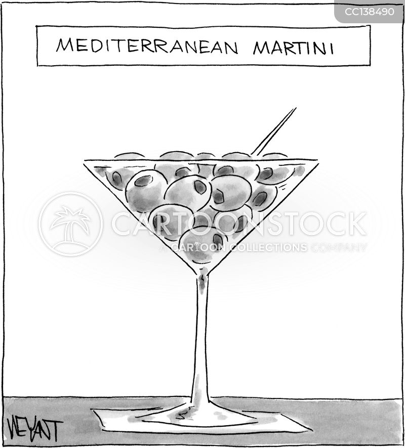 mediterranean cuisine cartoon