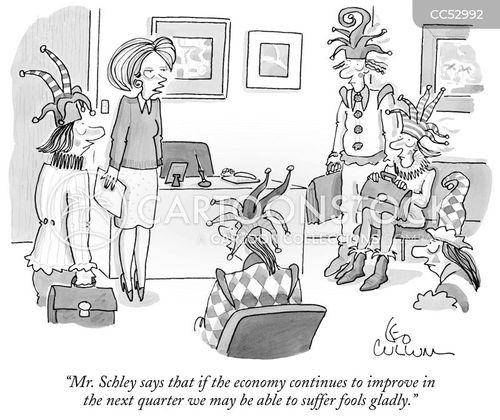 weak economy cartoon