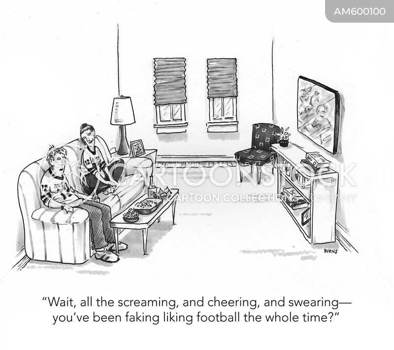 football fan cartoon