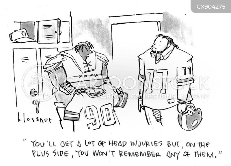 concussed cartoon