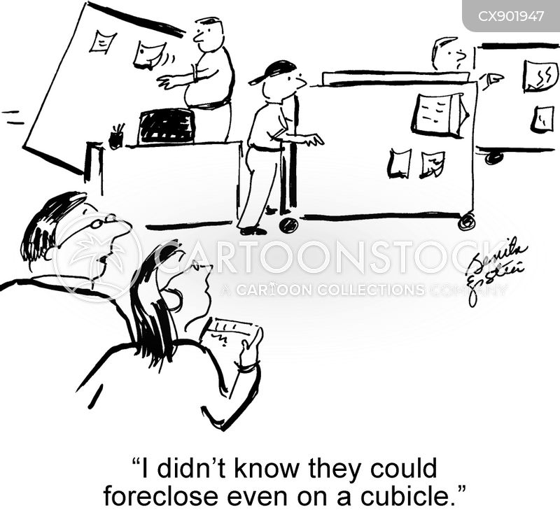 foreclosures cartoon