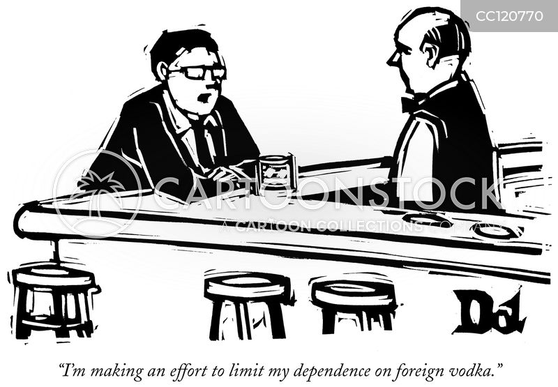 alcohol dependence cartoon