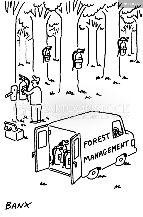 fire extinguishers cartoon