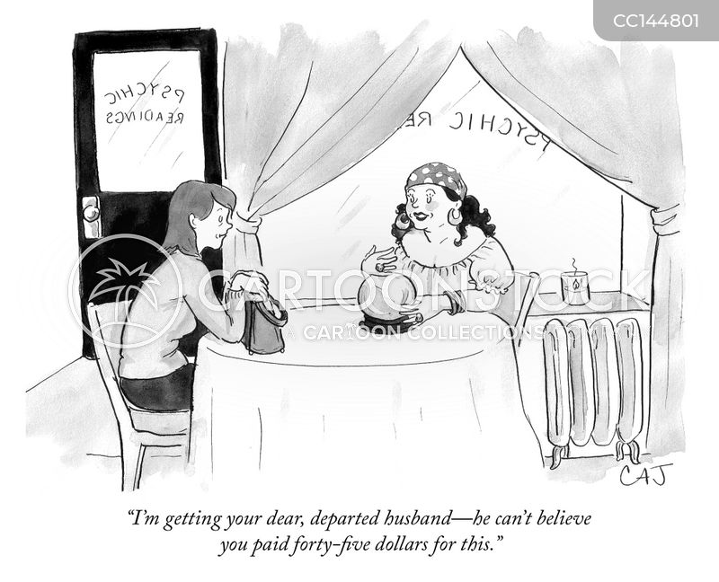fortuneteller cartoon