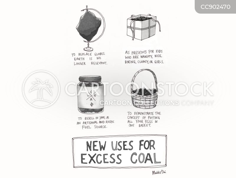 coal mines cartoon