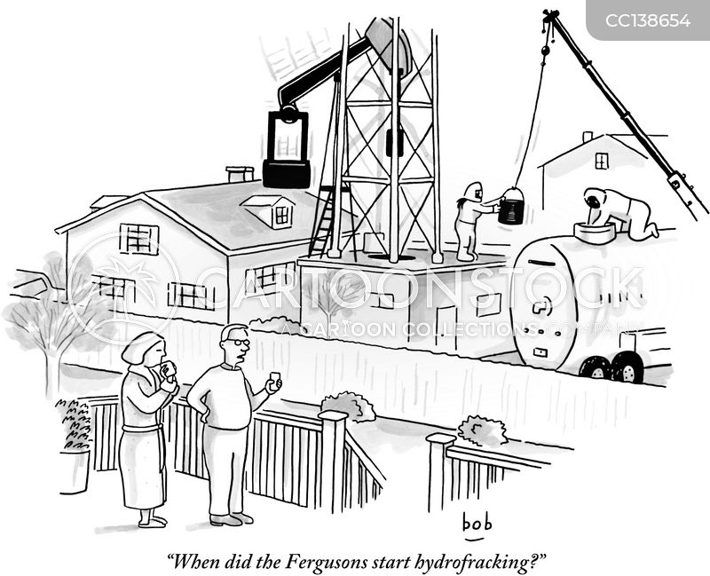 Hydrofracking cartoon