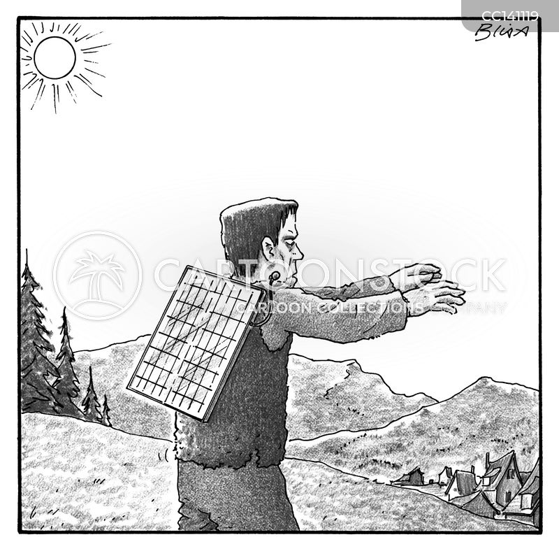 renewable energies cartoon