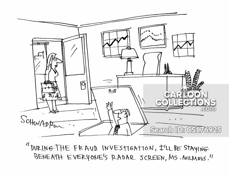 fraud investigations cartoon