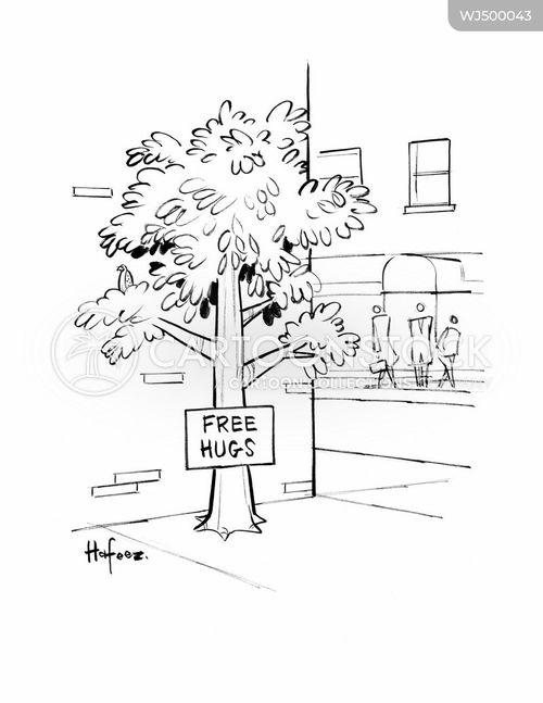 free hug cartoon