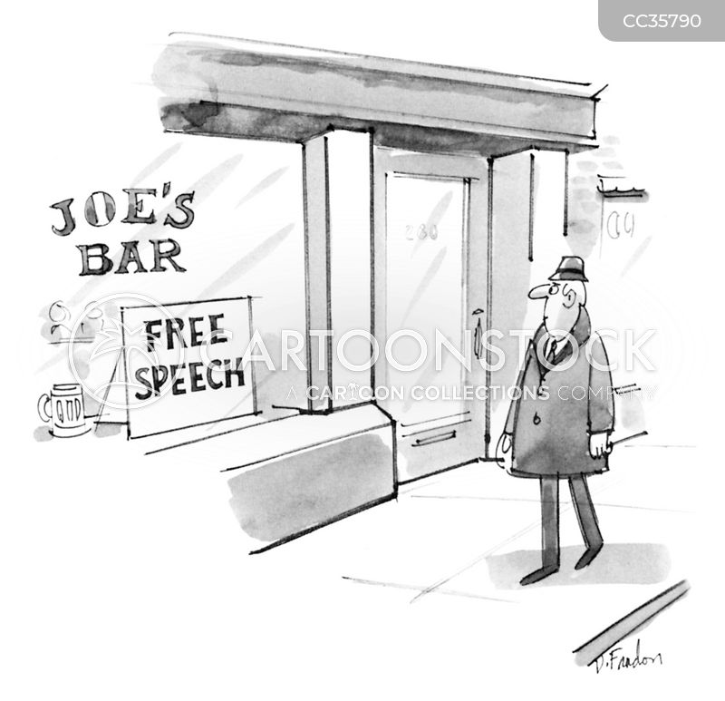 free speech cartoon