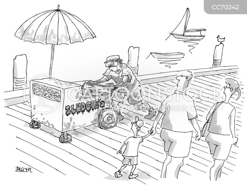 ice cream carts cartoon