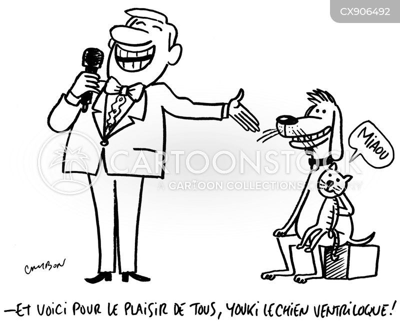 ventriloquism cartoon