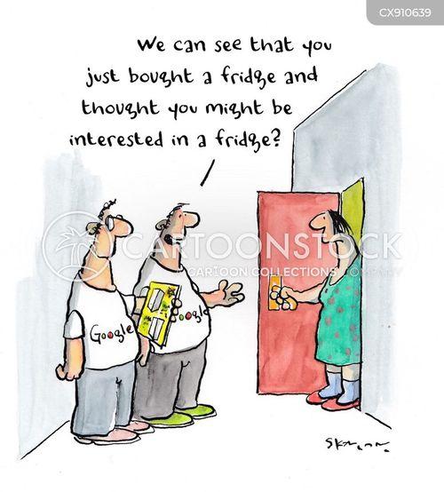 door to door salesman cartoon