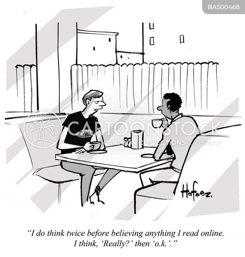 online news cartoon