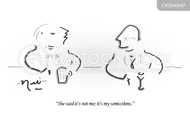 semicolons cartoon