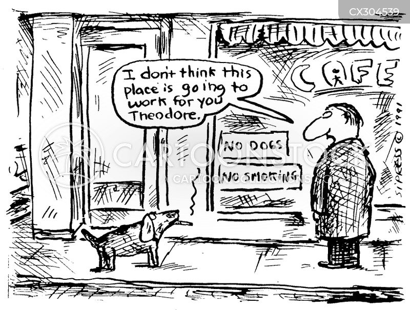 no dogs cartoon
