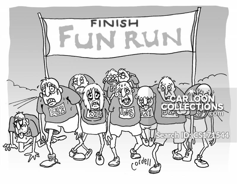 fun runners cartoon