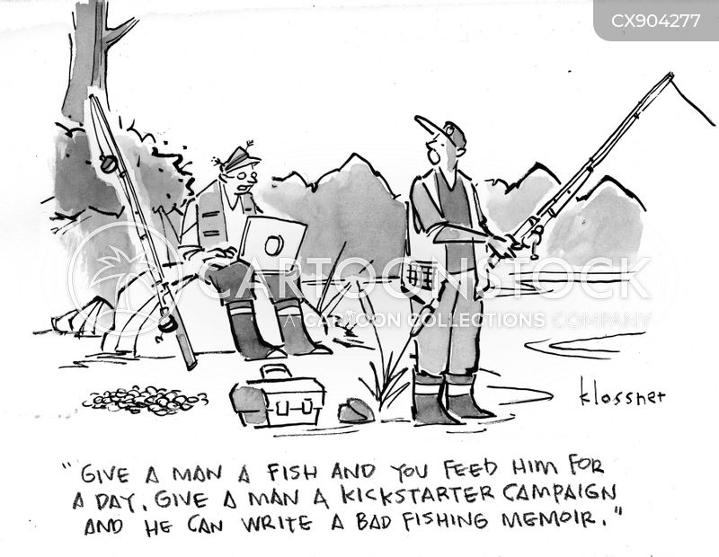 crowd funding cartoon