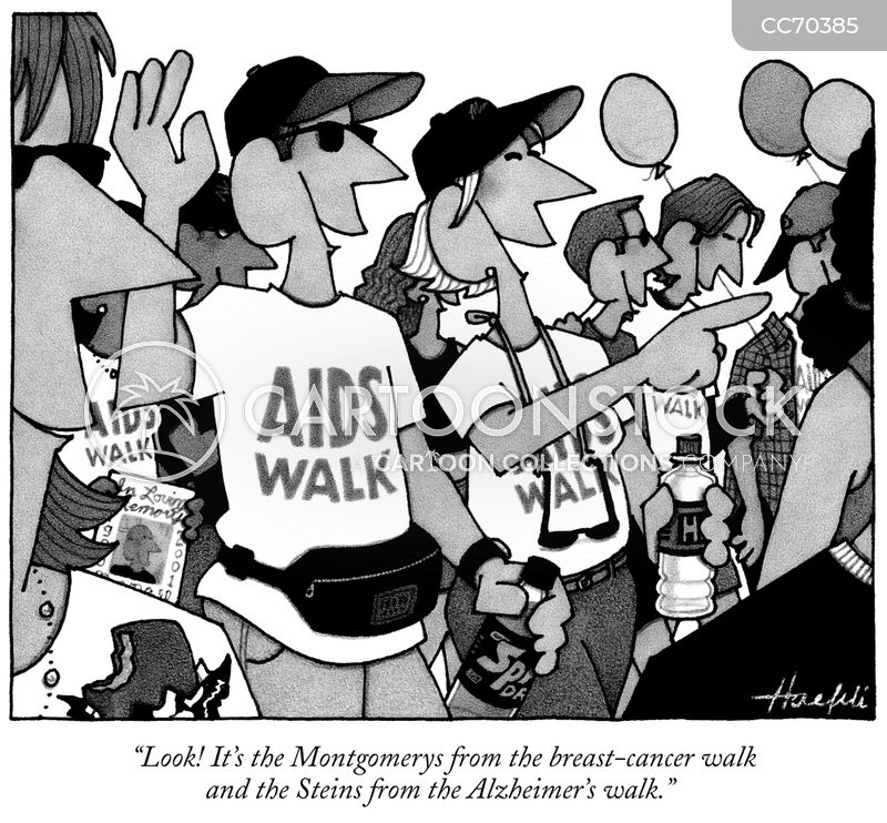 fundraising walk cartoon