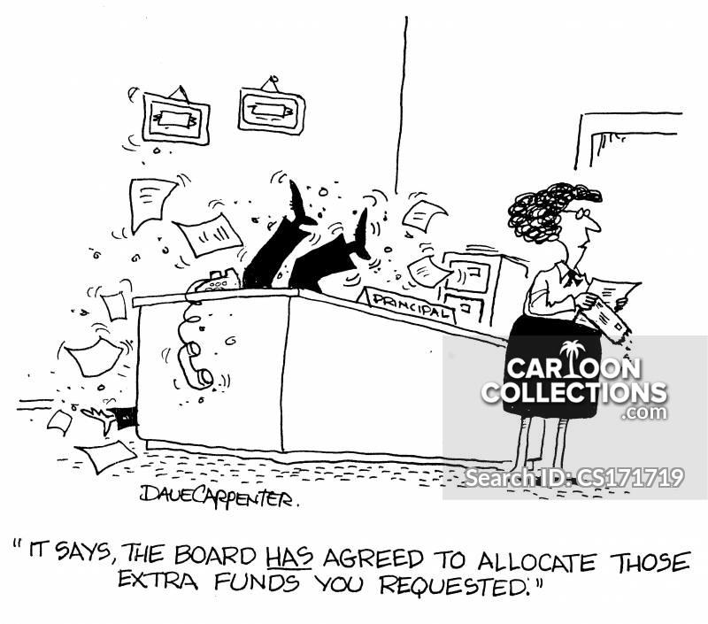 allocating cartoon
