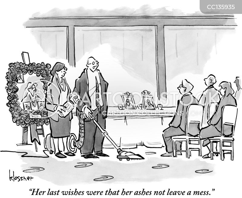 cremations cartoon