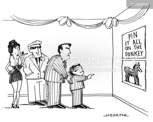 pin the tail on the donkey cartoon