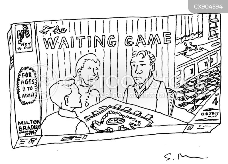 holding back cartoon