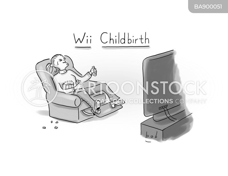 games console cartoon