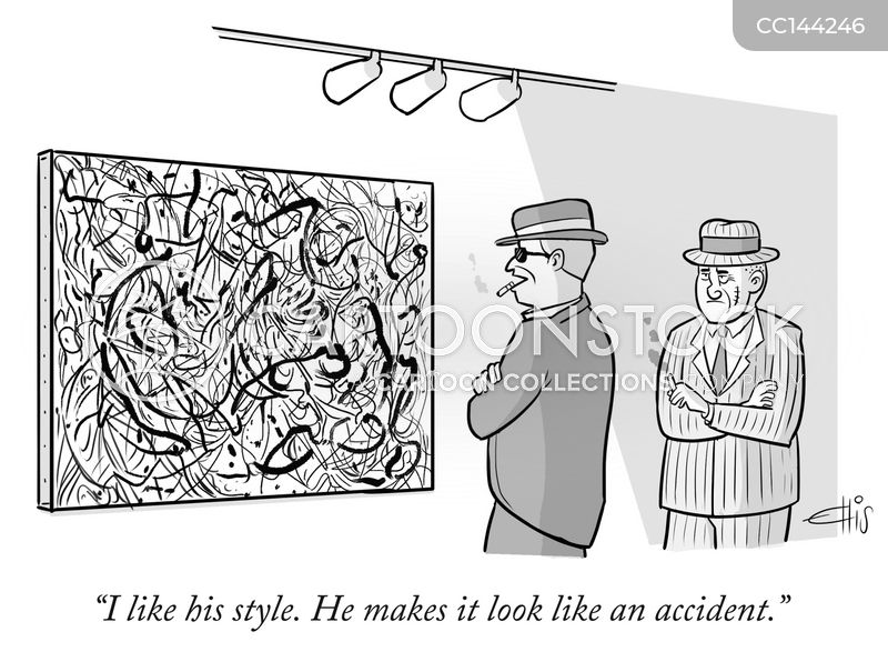 modern artists cartoon