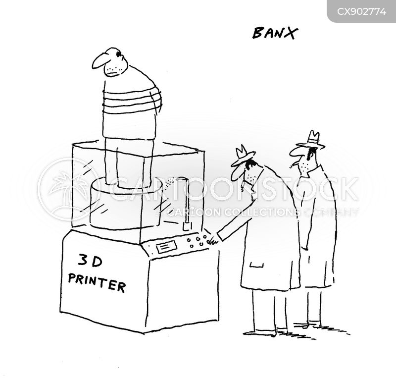 3d printer cartoon