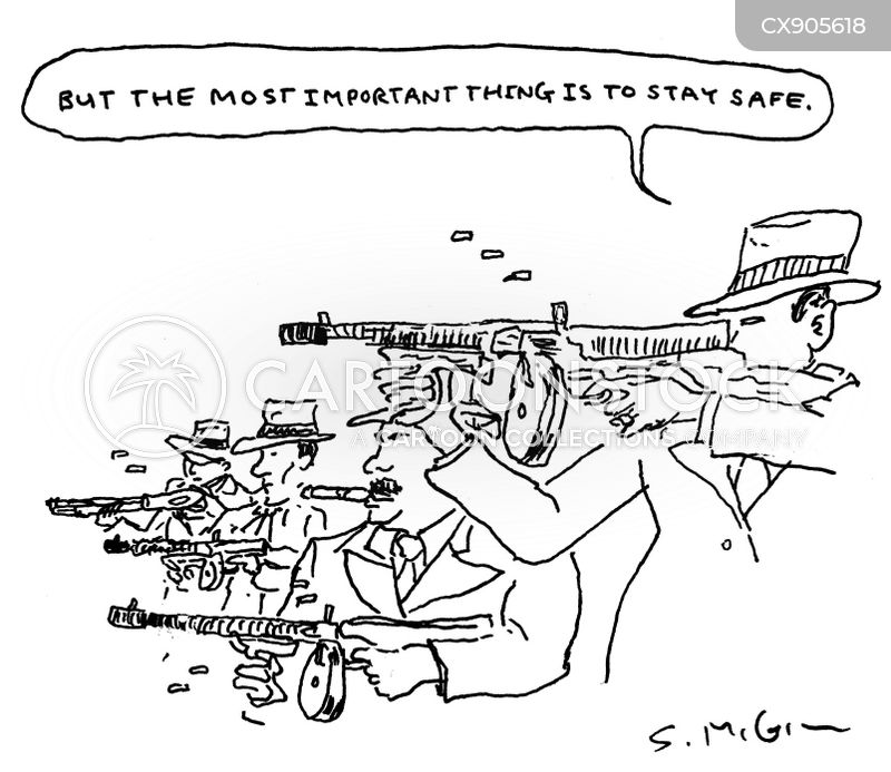 tommy guns cartoon