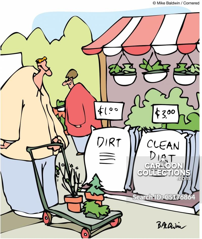 Clean Dirt cartoon