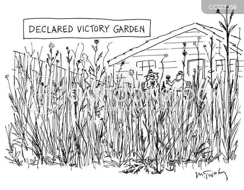 lawn maintenance cartoon