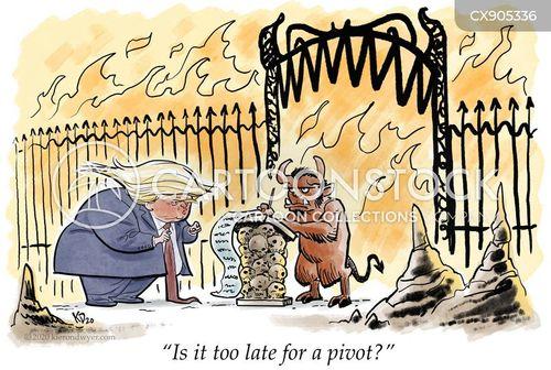 fiery pit cartoon