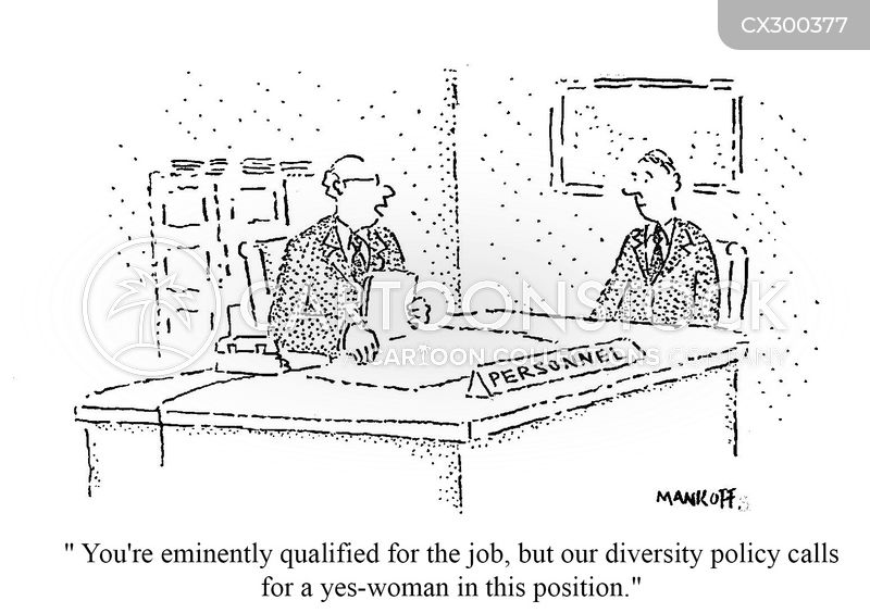 diversity quota cartoon