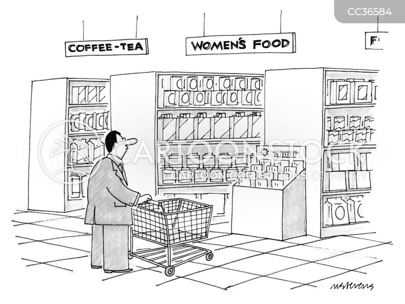 food shopping cartoon