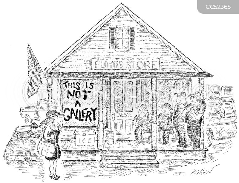 rural town cartoon