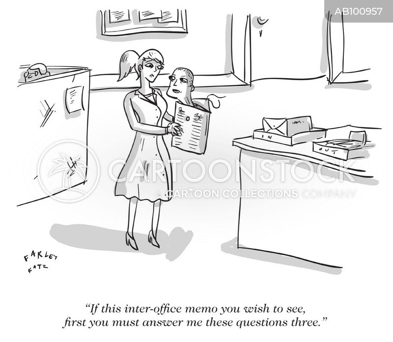 interoffice memos cartoon