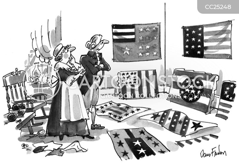 american flag cartoon