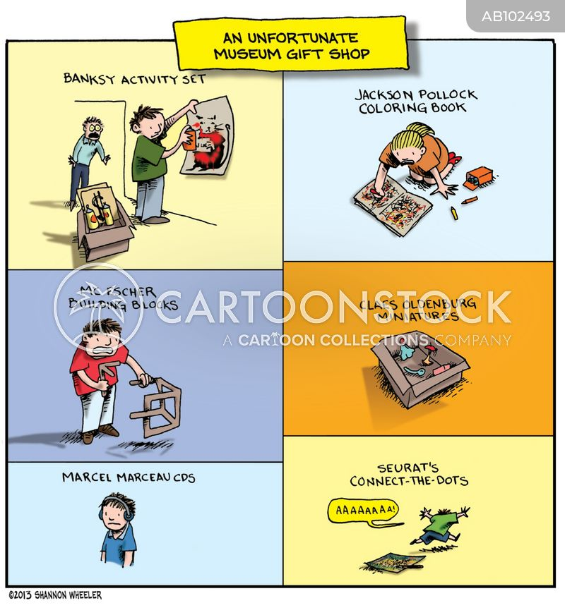 art exhibitions cartoon