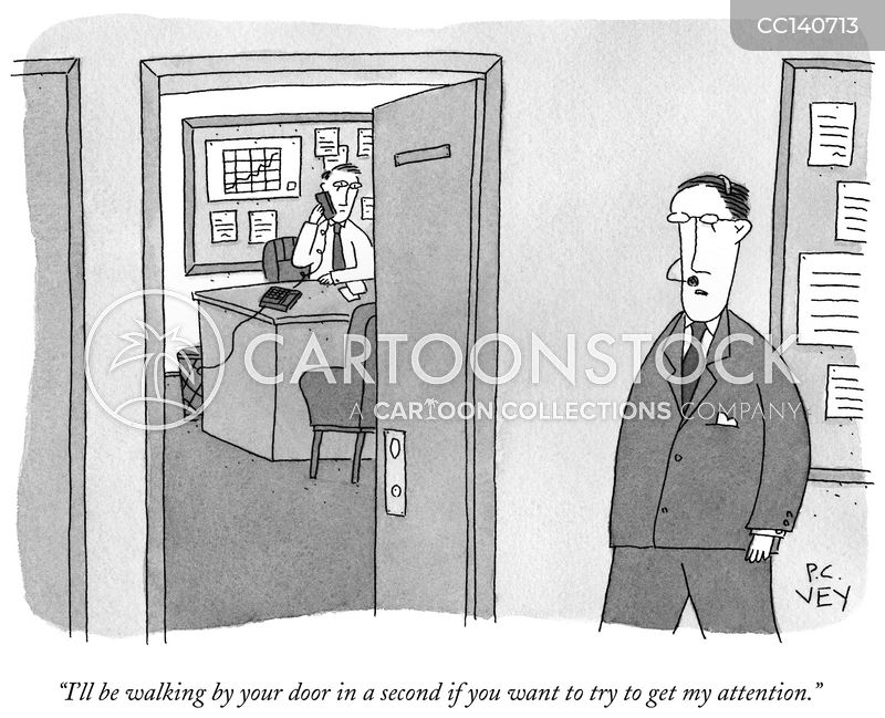 get attention cartoon