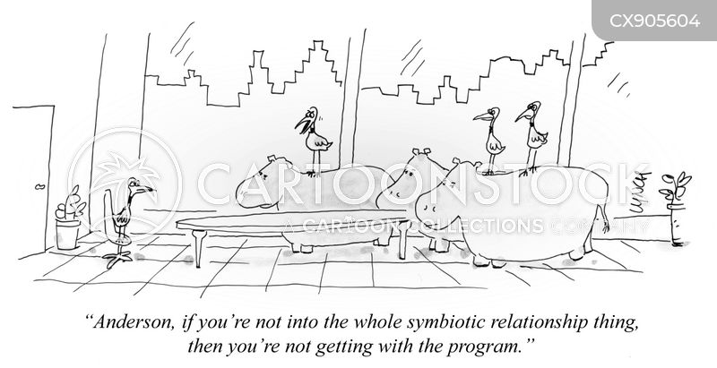 symbiotic relationship cartoon