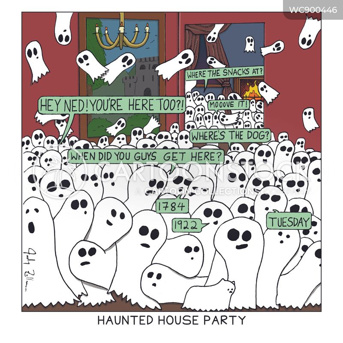 house party cartoon