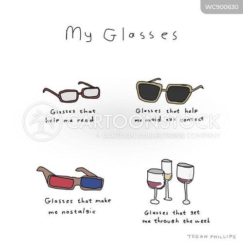 reading glasses cartoon