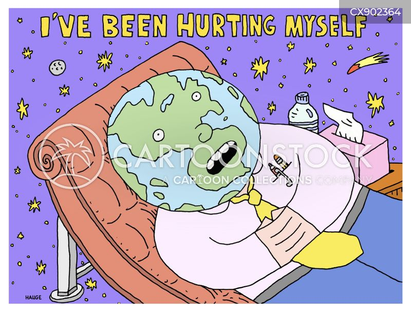 hurting cartoon