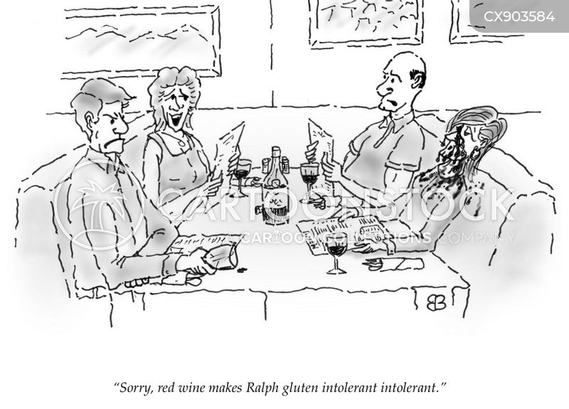 gluten intolerant cartoon