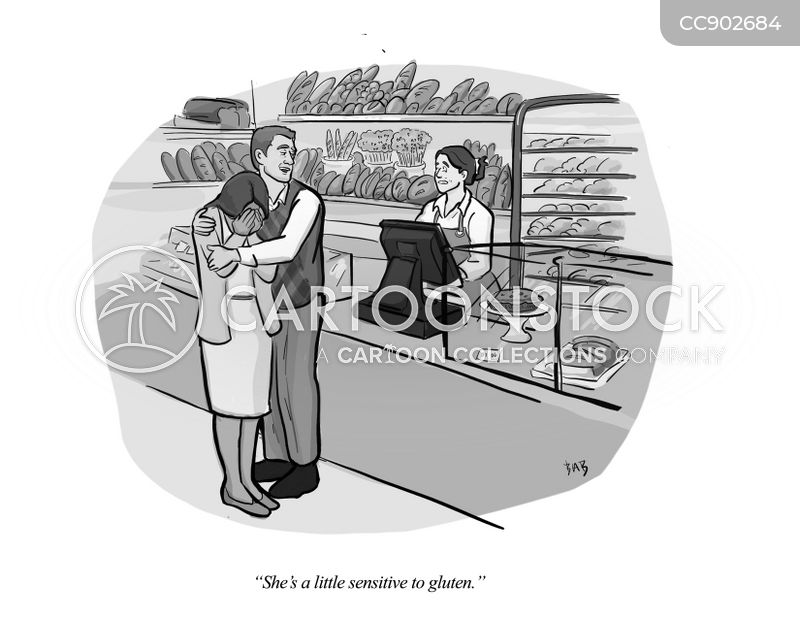 gluten intolerance cartoon